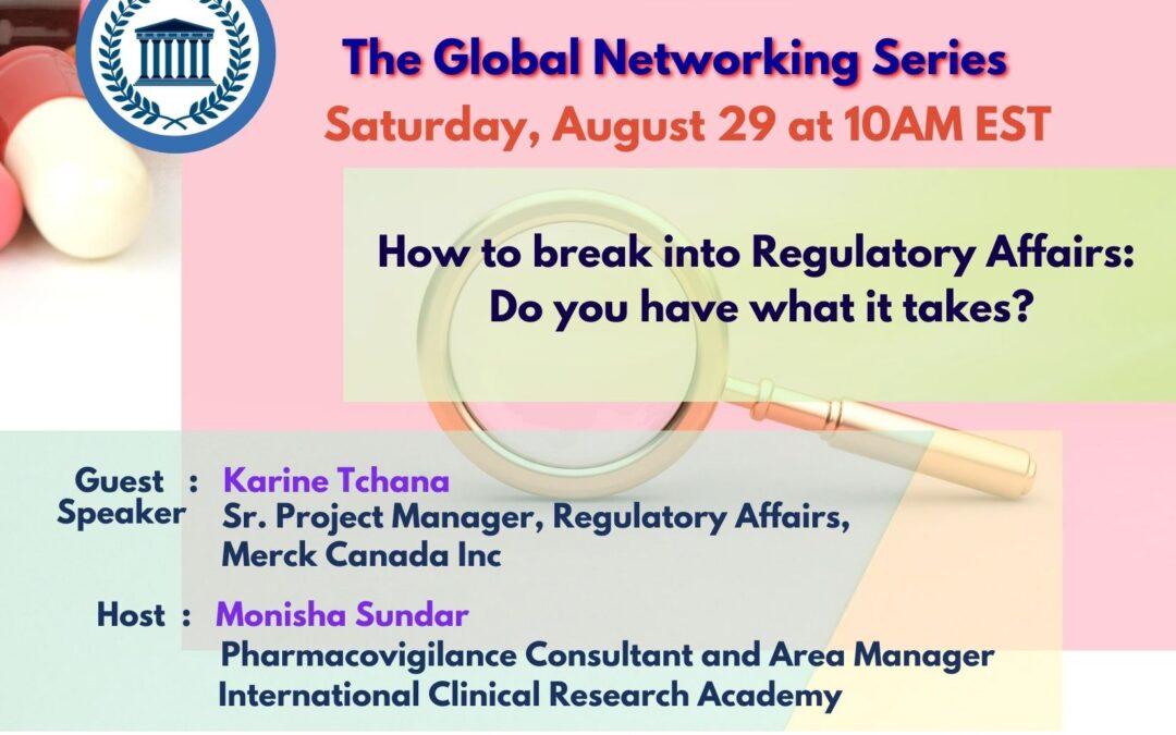 Emplois dans le domaine des affaires réglementaires pharmaceutiques - Comment s'introduire - Événement de réseautage mondial. Parlez à un expert
