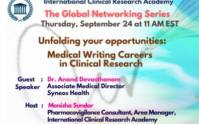 Unfolding all of your opportunities: The Medical Writing Careers in the Clinical Trials Industry: how to get-in