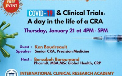 One rewarding day in the life of a CRA – tasks and challenges, free conference of Ken Boudrault, SrCRA