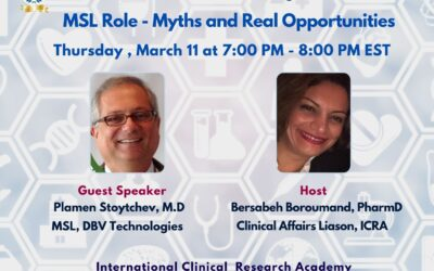 The MSL role – 10 myths and exciting opportunities, free webinar with Dr Plamen Stoychev, MD, MSL